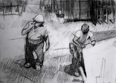Frank Hobbs Drawings Charcoal on Fabriano rag paper