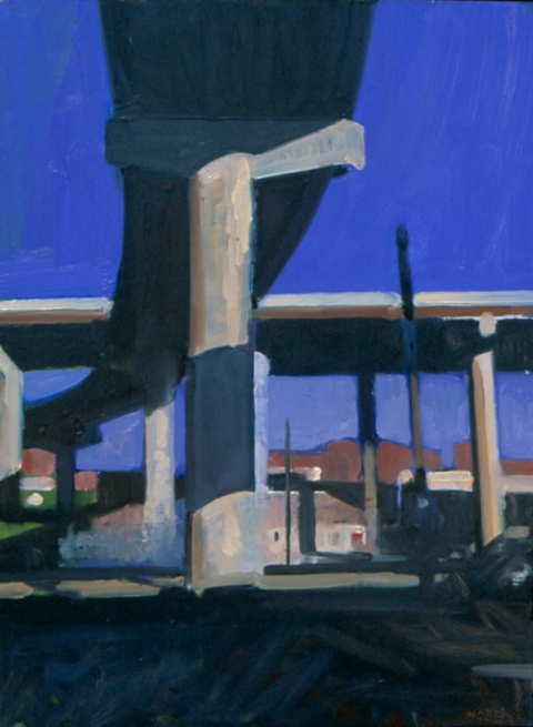 Frank Hobbs Paintings: Urban Oil on panel