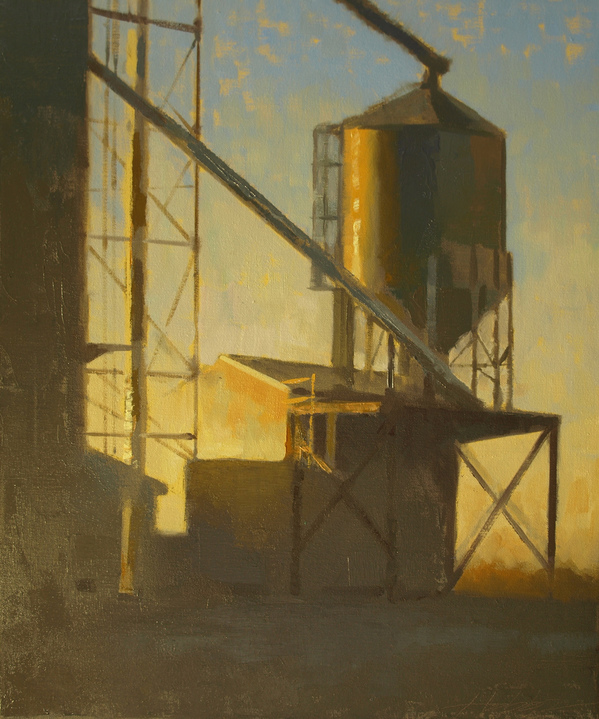 OHIO Grain Elevator, Sunset