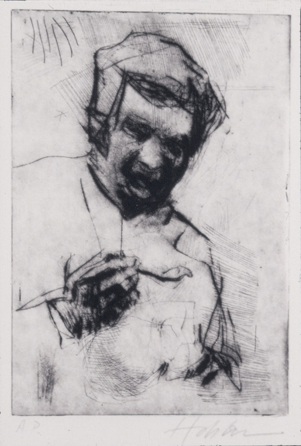 INTAGLIO Woman Eating