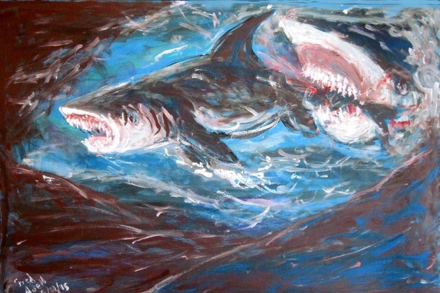 fred adell wildlife artist fishes paintings and mixed media