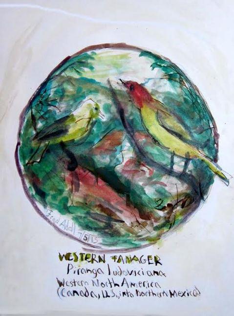 fred adell wildlife artist birds works on paper