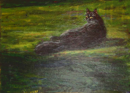 Fred Adell - Wildlife Artist Cats - Domesticated acrylic on canvas panel