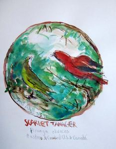 Fred Adell - Wildlife Artist Works on Paper Mixed Media Mixed Media (ink, watercolor and tempera)