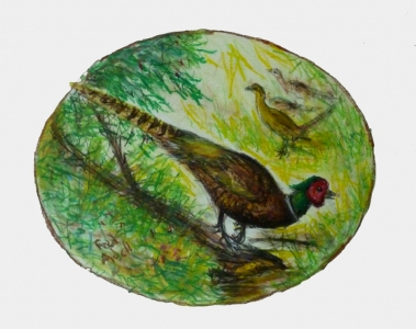 Fred Adell - Wildlife Artist Works on Paper mixed media