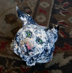 Fred Adell - Wildlife Artist Cats (wild)  Sculpture bust (fired clay, paper-mache, acrylic)
