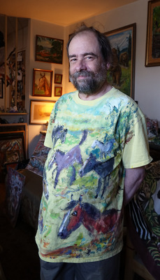 Fred Adell - Wildlife Artist T-Shirts Acrylic on fabric
