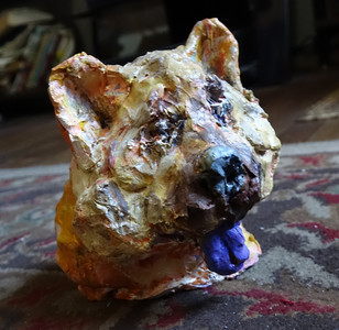 Fred Adell - Wildlife Artist Dogs - Domesticated (fired clay, paper mache, acrylic)