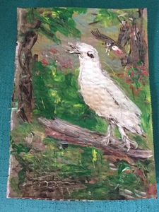 Fred Adell - Wildlife Artist Works on Paper Acrylic on corrugated cardboard