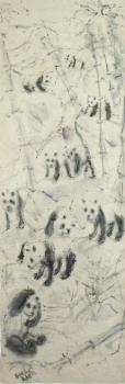 Fred Adell - Wildlife Artist Bears - Pandas India ink on rice paper