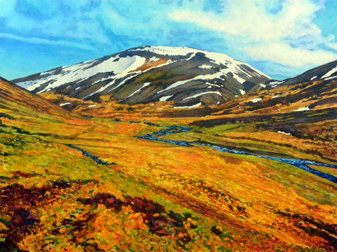 FRANK WEBSTER Iceland acrylic on canvas