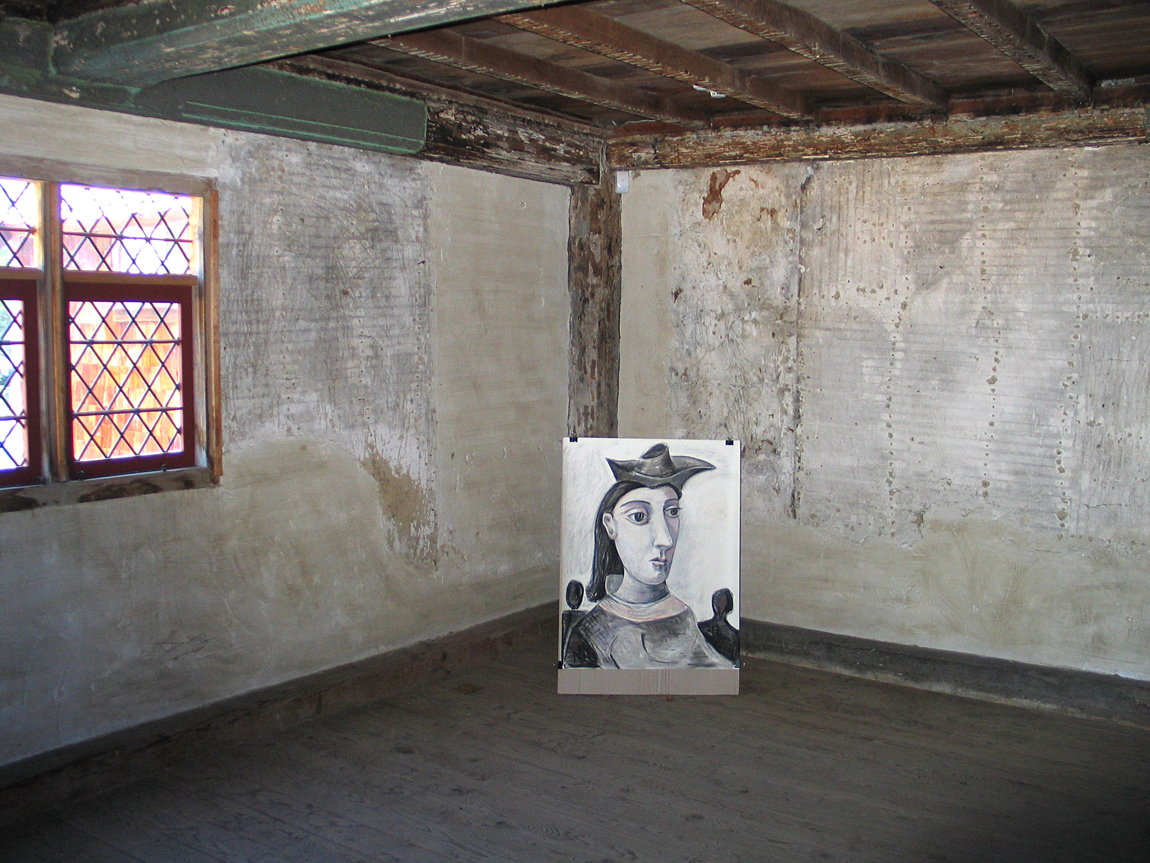 The Picasso Women Visit the White-Ellery House (A Drawing Installation) First Floor