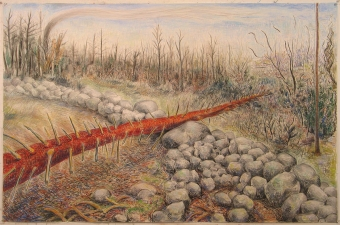 Gabrielle Barzaghi                     DRAWINGS Dogtown (Woodlands) Pastel, conte, and charcoal