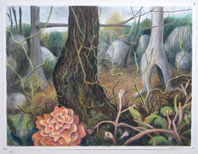 Dogtown (Woodlands) Pastel