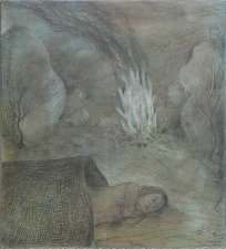 Paleolithic Picnic Graphite and Pastel