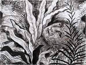 Gabrielle Barzaghi                     DRAWINGS Into the Woods Ink