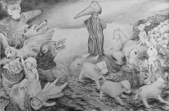 Gabrielle Barzaghi                     DRAWINGS When Objects Dream 2015 Graphite