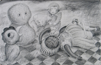 Gabrielle Barzaghi                     DRAWINGS Good Morning Ukraine Graphite