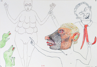 Gabrielle Barzaghi                     DRAWINGS Rude Drawings Ink, Colored Pencil, and Graphite