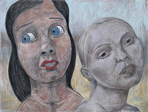 Gabrielle Barzaghi                     DRAWINGS The Tsar's Children 2019 Pastel and Charcoal