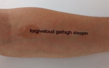 Camille J. Gage Body Lines - Entire Poem in Tattoos