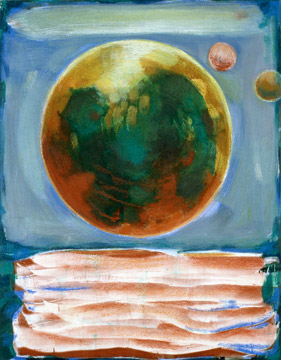 "Gail Salzman . Contemporary Paintings Paper . Prints monotype, 18"" x 14"""