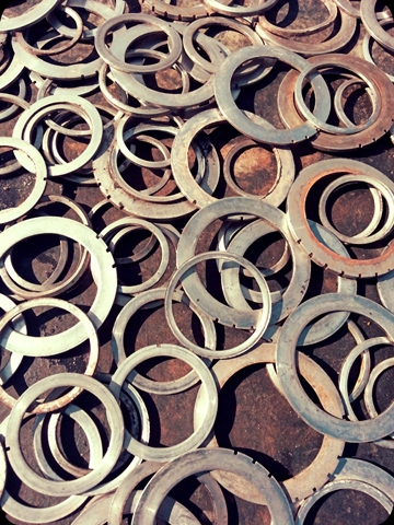 "Digital Files of Artists Edward Kennedy  ""Silver Rings"". Photography, 2014"