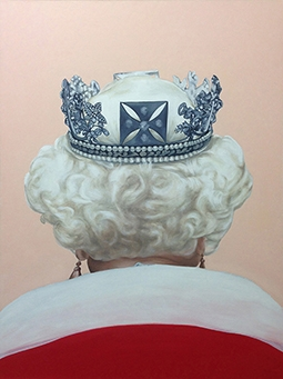 "Digital Files of Artists Kathryn Mecca, The Queen, 30""x40"", Oil on Canvas, 2013"