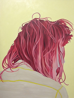 "Digital Files of Artists Kathryn Mecca, Ariel Pink, 30""x40"", Oil on Canvas, 2014"