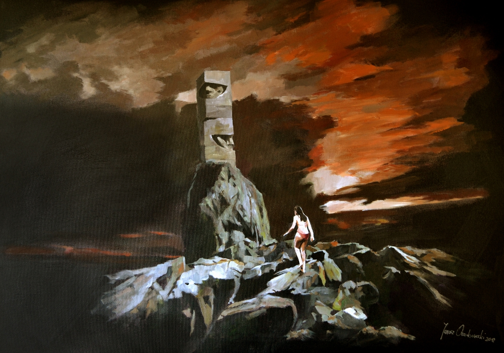 Digital Files of Artists Janusz Orzechowski_Obelisk_100x70cm_acrylic on canvas_2012