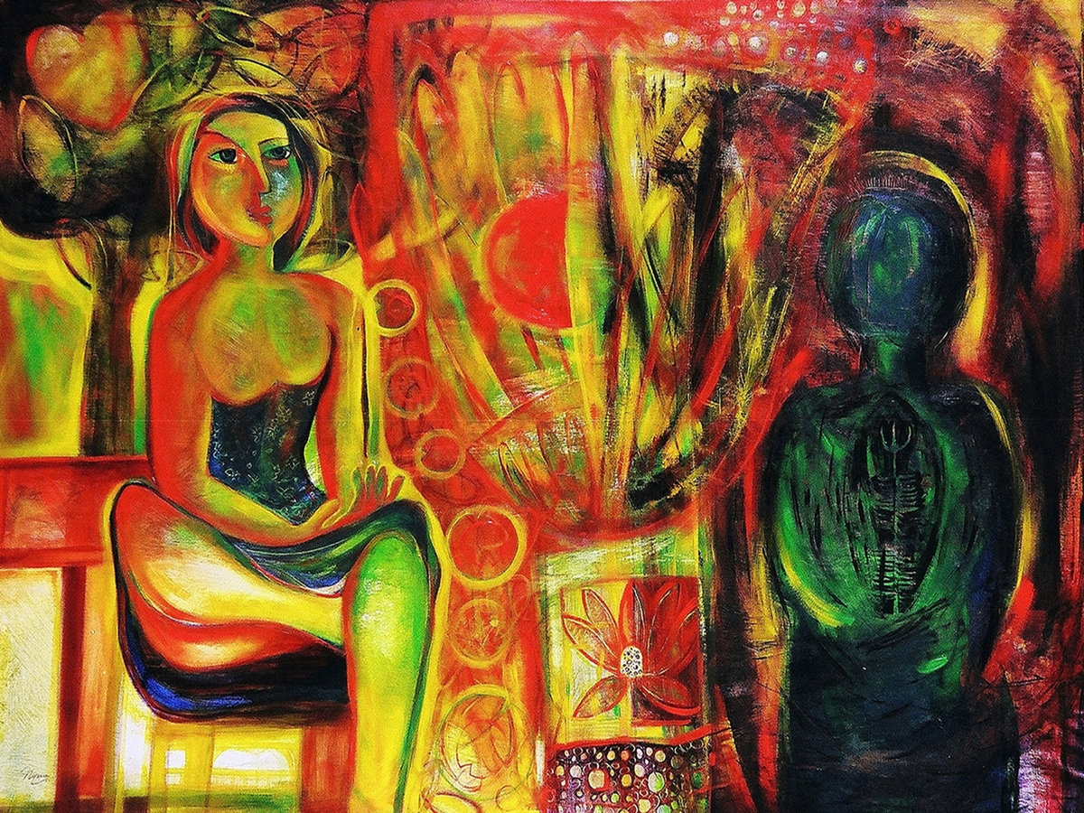 "Digital Files of Artists Nipun Manda_Compassion_50""x38""_Acrylic on Canvas_2013"