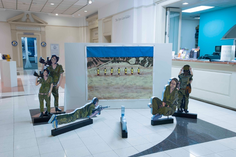 Digital Files of Artists Soldiers at the Shooting Range, Installation, Approx 10' x 10' floor space, 2013