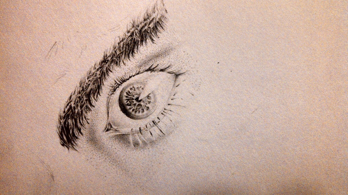 "Digital Files of Artists Thomas Howard, ""Pores and Eye"", 3.5"" x 3"", sketchbook paper and #2 pencil(no references), 2014"
