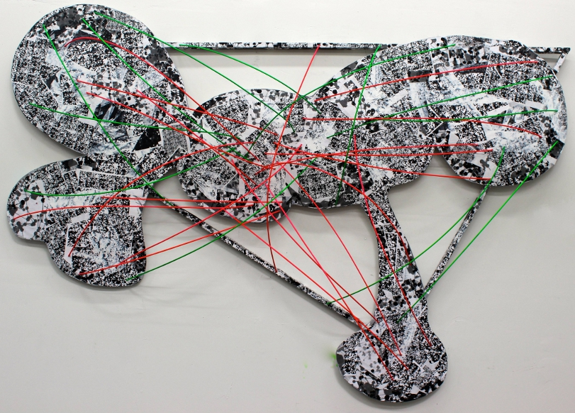 "Digital Files of Artists Brett Wallace, Connections, 40"" x 70"" x 30"", Mixed Media on Wood, 2013"