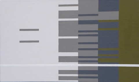 "Digital Files of Artists Ashley DuRoss, Embellish Superfluity Pressurized Cutting Edge, 18"" x 30,"" interior house paint on canvas, 2013"