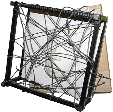 "Digital Files of Artists Chris Plaisted ""let"" width: 14"" height: 14"" depth: 6"" steel, wood, aluminum, plaster of paris 2007"