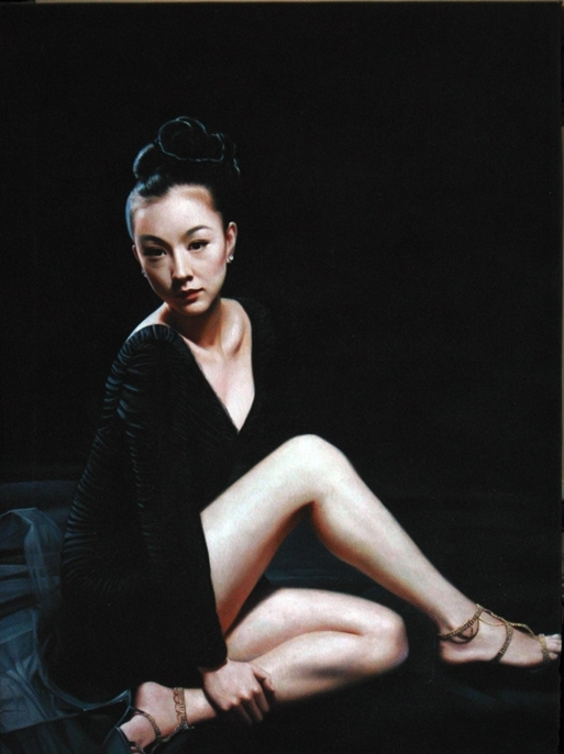 Digital Files of Artists ip pang = girl = oil on canvas = oil on canvas