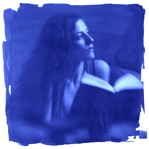 Digital Files of Artists Ekaterina Bykhovskaya, Martina with a Book, 7x7, ink jet print, 2011