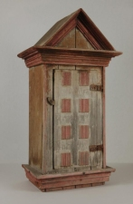 Garvey Rita  Art & Antiques Brazilian Votive Cabinet from the Estate of Poet Elizabeth Bishop (1911-1979) Painted wood