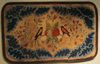 Garvey Rita  Art & Antiques Hooked Rug c. 1880 Wool