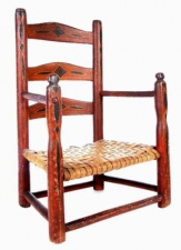Garvey Rita  Art & Antiques 18th Century Child's Chair Painted wood with rush seat