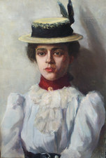 Garvey Rita  Art & Antiques Fannie C. Burr (1858-1931) Oil on canvas