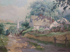 Garvey Rita  Art & Antiques Chester Van Nortwick (1881-1944) Oil on board