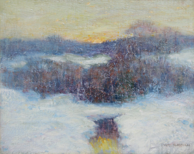 Garvey Rita  Art & Antiques Let it Snow: Selected Works-December 13-January 10, 2015 Oil on  canvas board