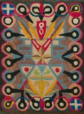 Garvey Rita  Art & Antiques American Early 20th Century Rug from the Kristina Barbara Johnson Collection Wool