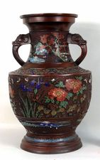Garvey Rita  Art & Antiques Japanese Bronze Urn Bronze and Champleve enamel