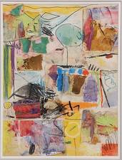 Garvey Rita  Art & Antiques Robert Natkin (1930-2010) Mixed media and paper collage on canvas