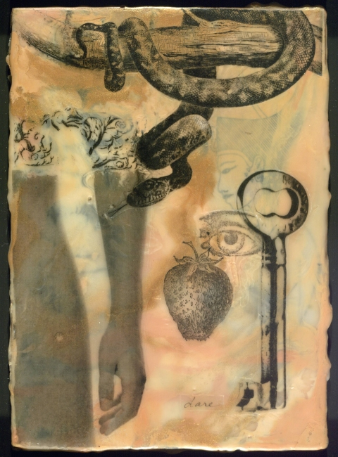 Encaustic Collages Temptation of Eve
