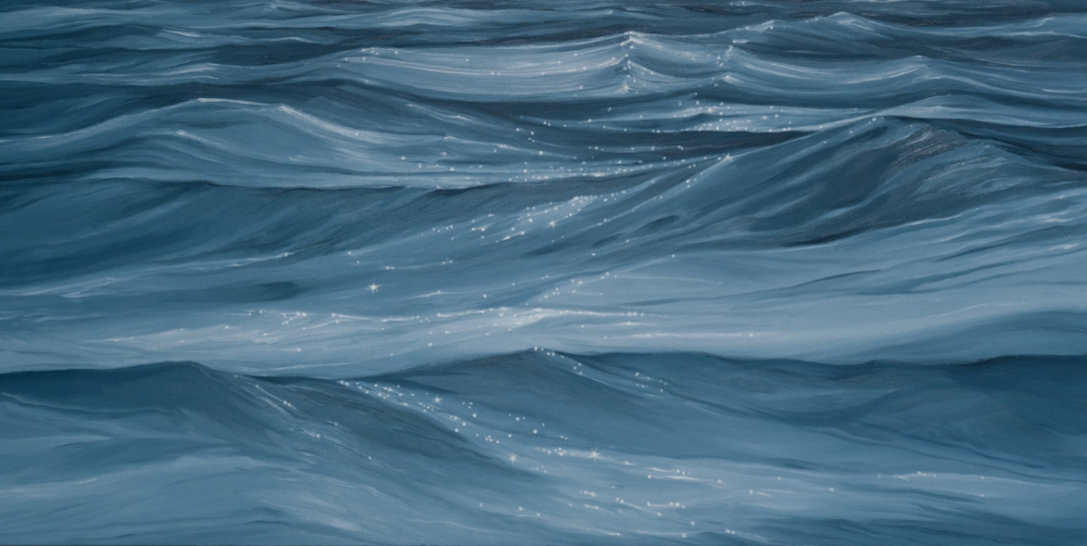 Wave Series Large Blue Waves