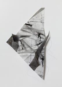 Gelah Penn Constructed Drawings Graphite, monofilament, acrylic on Yupo
